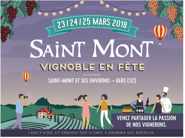 Wine festival in Saint-Mont, Gers